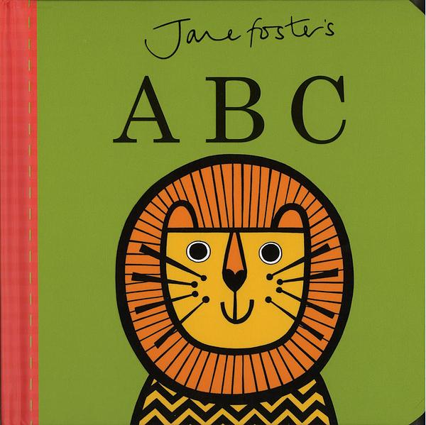 【高質感幼兒認知書】JANE FOSTER'S ABC /硬頁書  ※北歐風.圖騰設計大師作品 ※