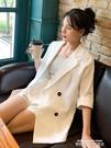 西裝外套亞麻西裝外套女新款上衣韓版夏白色職業裝薄防曬衣小西服棉麻套裝 萊俐亞