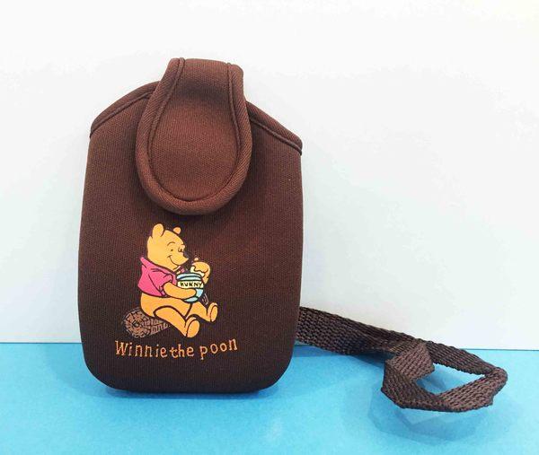 【震撼精品百貨】Winnie the Pooh 小熊維尼~手機套S-咖啡