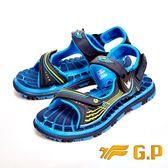 【G.P】可拆式快樂磁扣兩用涼鞋 童鞋-淺藍(另有黑紅)