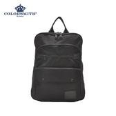 【COLORSMITH】BJ2.雙層方形後背包.BJ2-1399-BK