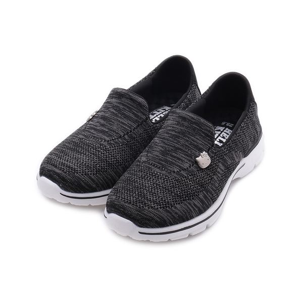 HELLO KITTY 飛織套式休閒鞋 黑 女鞋