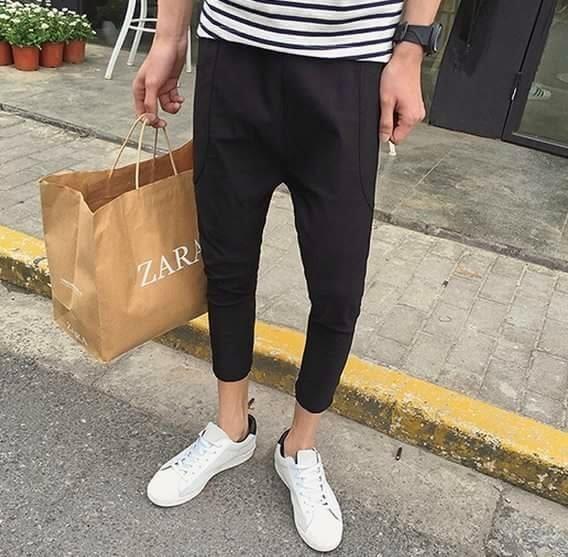 簡約 上寬下窄 褲 長褲