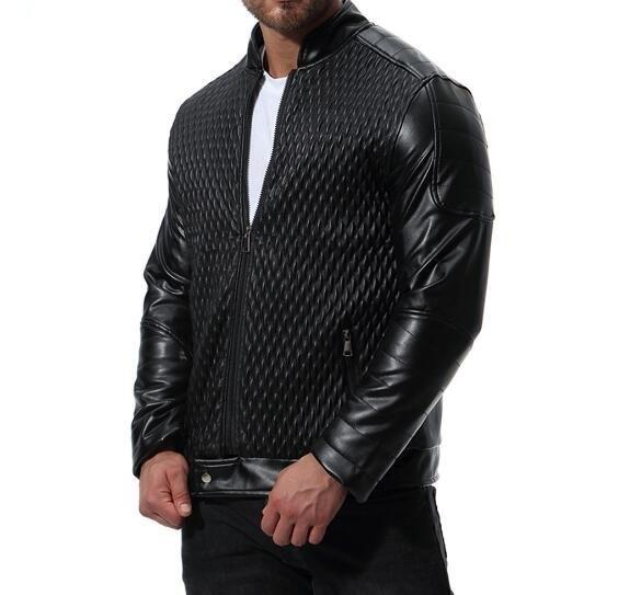 FINDSENSE品牌 2018 新款 韓國  長袖 皮衣 歐碼 潮流 機車 拉