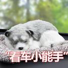 汽車用品小車上車內飾品擺件車載裝飾個性創意竹炭仿真狗可愛車飾 店慶降價