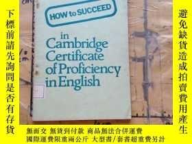 二手書博民逛書店How罕見to Succeed in Cambridge Cer