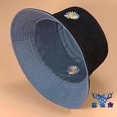 雙面漁夫帽女夏季日系太陽帽子男百搭遮陽帽防曬紫外線【古怪舍】