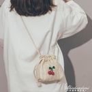 草編小包包女新款仙女洋氣編織度假沙灘包韓版百搭斜背包 黛尼時尚精品
