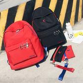 現貨-後背包-兩件組刺繡月亮帆布後背包 Kiwi Shop奇異果0905【SYK2763】