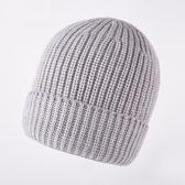 羊毛毛帽-秋冬純色捲邊包頭男針織帽4色73wj38[時尚巴黎]