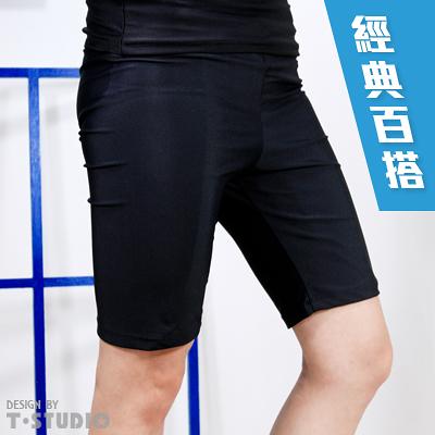 【T-STUDIO】束胸泳衣系列/百搭經典黑/拉繩泳褲(單件銷售)