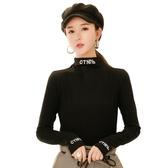 半高領加絨打底衫女秋冬新款2019黑色內搭長袖t恤洋氣上衣女春秋