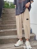 ins薄款褲子男夏季寬鬆學生束腳運動褲情侶原宿bf工裝褲百搭休閒 西城故事