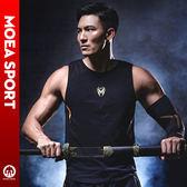 無袖t恤男跑步透氣訓練棉肌肉型健身衣潮坎肩男裝運動背心