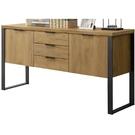 櫥櫃 餐櫃 SB-852-2 雅博德5尺黃金橡木色二門三抽收納櫃【大眾家居舘】