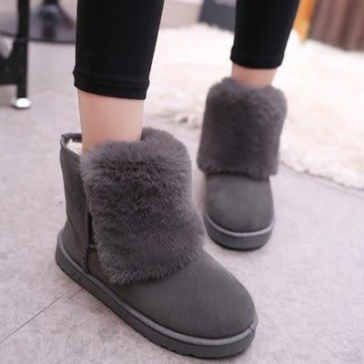 中筒雪靴-時尚簡約舒適保暖女平底靴子4色73kg44【巴黎精品】