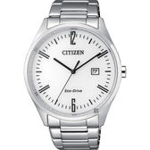 【CITIZEN】星辰 Eco-Drive 光動能時尚手錶-白x銀/42mm BM7350-86A