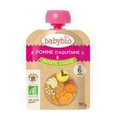 法國Babybio 有 機蘋果甜薯纖果泥 隨行包90g[衛立兒生活館]