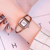 時尚學生手表女潮簡約復古鋼帶腕表方盤防水女士手表鏈條表 WE1391【東京衣社】
