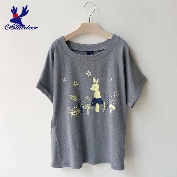 American Bluedeer- 蘑菇鹿連袖T(魅力價)