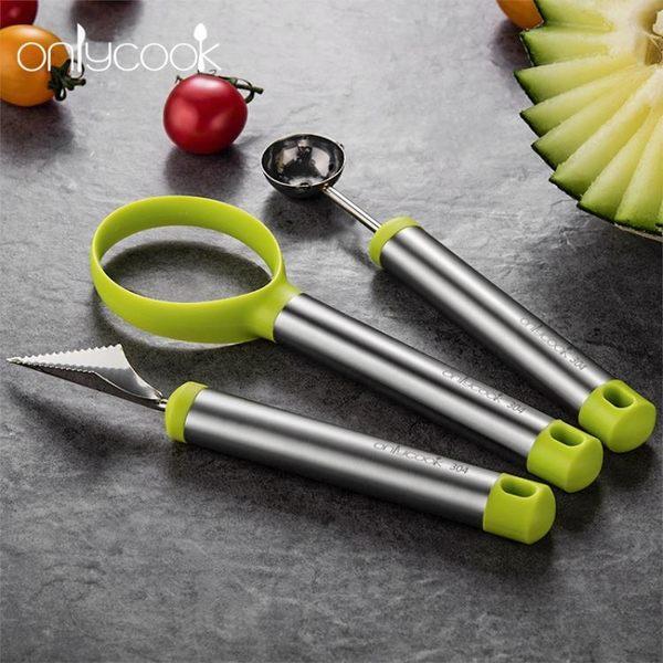 水果工具 水果雕刻刀雕花模具刻 304不銹鋼挖球器家用花式水果拼盤工具套裝 晴天時尚館