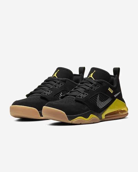 NIKE Jordan Mars 270 男款黑x黃超大緩震氣墊反光低筒慢跑鞋-NO.CK1196007