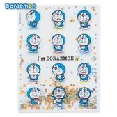 日本限定  DORAEMON 哆啦a夢 亮片系列 多WAY表情星星版 A4資料夾