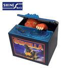 【日本正版】限定版 哥吉拉 偷錢箱 存錢筒 儲金箱 小費箱 恐龍 GODZILLA SHINE - 376831