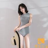 韓國泳衣性感比基尼遮肚顯瘦塑身保守泡溫泉游泳衣女【慢客生活】