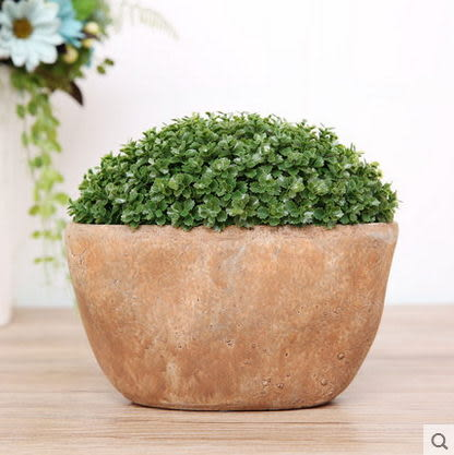 F0857 小清新綠色環保植物高仿真花套裝桌面擺設盆栽 萬年青3款選(1套)