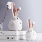 治癒繫兔子小擺件創意客廳臥室內家居軟裝飾品擺設兒童新房間佈置 【快速出貨】