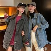牛仔外套 復古港味牛仔外套女春季新款韓版寬鬆bf百搭休閒學生長袖上衣 阿薩布魯