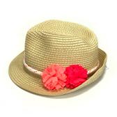 Carter s卡特 遮陽嬰兒草帽 米色綁花 | 春夏防曬 | 女寶寶-服飾佩件(初生幼兒/小孩/兒童)