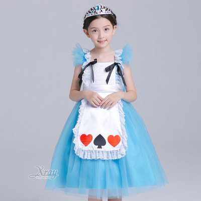節慶王【W380211】愛麗絲公主裝(小孩),萬聖節服裝/化妝舞會/派對道具/尾牙變裝/cosplay