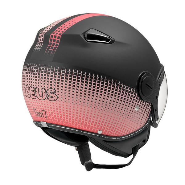 ZEUS 瑞獅安全帽,MOMO 飛行帽,210C,DD82/消光黑粉