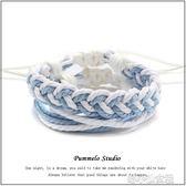 手工編織小眾設計手繩簡約冷淡風日繫手鏈情侶男女學生  『洛小仙女鞋』