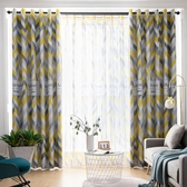窗簾 成品簡約2020新款窗簾布料現代臥室客廳落地出租屋房遮陽遮光短簾【快速出貨】