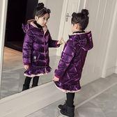 童裝外套女童棉衣新款冬季韓版外套羽絨棉棉襖中長款兒童加厚亮絲棉服【百姓公館】
