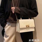 高級感包包女2019新款洋氣網紅小黑包質感百搭女包時尚錬條斜背包 米希美衣