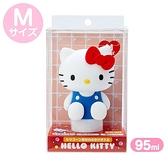 小禮堂 Hello Kitty 造型掀蓋矽膠空瓶 洗手乳瓶 乳液瓶 擠壓瓶 分裝瓶 95ml (M 藍) 4550337-39916