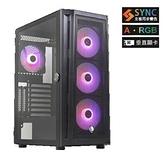 【綠蔭-免運】賽德斯 SADES VISHNU 毗濕奴(黑色) 全透側 A‧RGB 水冷電競機箱