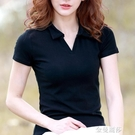 短袖有領t恤年新款打底衫早春polo衫女短款 帶領上衣春季小衫 極簡雜貨