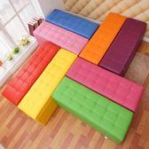 實木服裝店長方形沙髮換鞋凳鞋櫃床尾儲物凳收納更衣室試衣間凳子·享家生活館 IGO