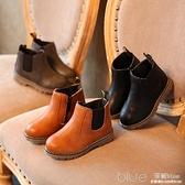 兒童靴子秋款女童短靴男童鞋子軟底寶寶皮靴韓版中大童馬丁靴  【2021新春特惠】