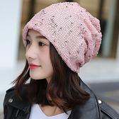 帽子韓版夏季包頭帽時尚頭巾帽雙層月子帽鏤空套頭帽潮堆堆帽 QQ518『愛尚生活館』