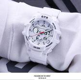 白色電子手錶女學生韓版簡約潮流時尚防水休閒運動手錶男【限時特惠】