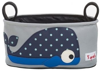 【原廠公司貨】加拿大3 Sprouts 推車置物袋~小鯨魚