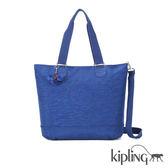 Kipling 深藍素面手提側背包-大