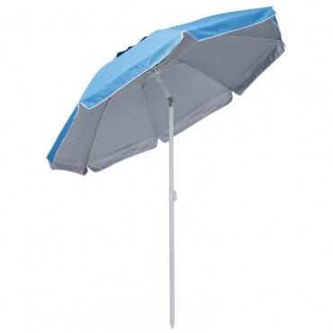 200CM海灘太陽傘-淺藍