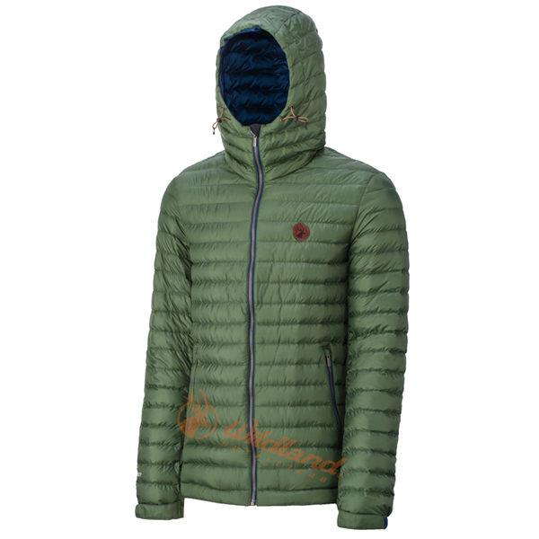 Wildland 荒野 0A32112-05灰綠色 男 700FP連帽輕羽絨外套